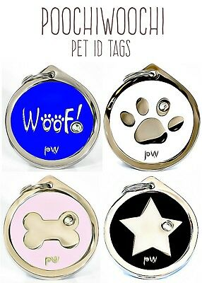 Pet DOG ID Tags Collar Name Identity Discs FREE UK DELIVERY ENGRAVING AVAILABLE • 5.99£