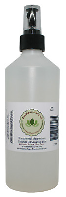 550ml Magnesium Chloride Oil Sensitive Skin With Atomiser And Rose Essential Oil • 15.75£