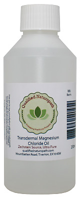 250ml Magnesium Chloride Oil HDPE With Lavender Essential Oil • 13.95£