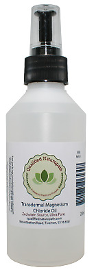 250ml Magnesium Chloride Oil HDPE With Atomiser And Rose Essential Oil • 14.95£