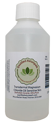 250ml Magnesium Chloride Oil Sensitive Skin HDPE With Rose Essential Oil • 10.45£
