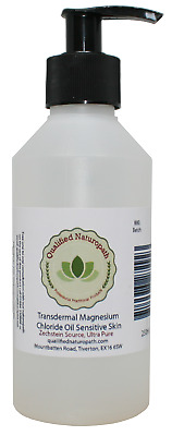 £7 • Buy 250ml Magnesium Chloride Oil Sensitive Skin With Pump And Lavender Essential Oil