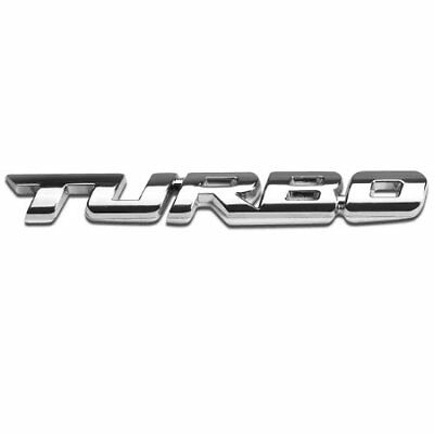 Silver Chrome 3D Metal TURBO Badge Emblem Sticker For Any Car • 3.99£