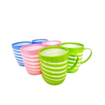 £7.95 • Buy 6pc Colourful Dynasty Plastic Mugs Tea Coffee Travel Picnic Outdoor Camping New
