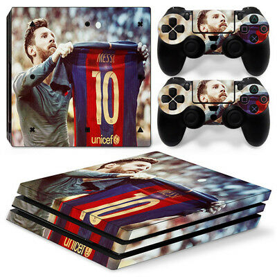 AU11.58 • Buy Barcelona Messi Skin For  PS4 PRO ProConsole Stickers & 2 Controllers Skins