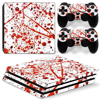 AU11.58 • Buy Blood Art Skin For  Playstation PS4 PRO Console Stickers & 2 Controllers Skin