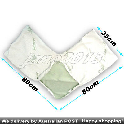 AU25.85 • Buy V Pillow Cover Case For Boomerang/V/TRI Shape Pillow Made From Bamboo Fabric