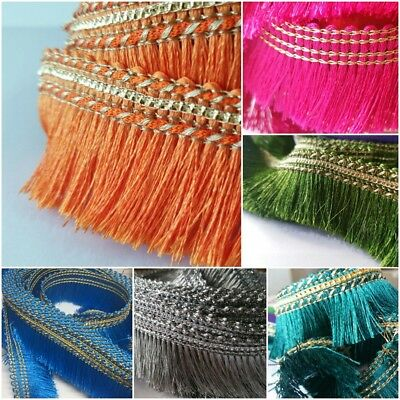 £3.49 • Buy  Silky Feather Style Fringe Trimming Braid Lace Sewing Ribbon Wedding Decor