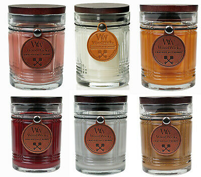 $22.55 • Buy WoodWick RESERVE Candles * Leather Hangtag * Wood Lid * Pluswick * Choose Scent