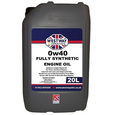 0W40 Fully Synthetic Engine Oil 0w/40 - 20 Litres / 20L • 69.99£