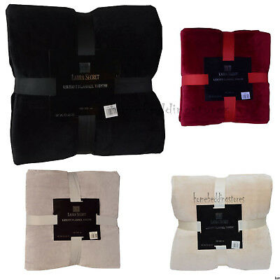 New Double Luxury Fleece Throw Cashmere Flannel Blankets Warm Sofa Bed Throws  • 11.94£
