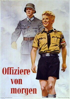 German WW2 Officers Of Tomorrow Waffen SS Officer Poster  • 6.99£