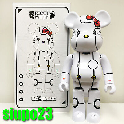 $999.99 • Buy Medicom 1000% Bearbrick ~ Action City Hello Kitty Be@rbrick Robot Kitty White Ve