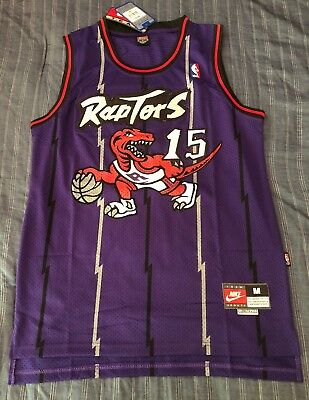 eba0f57a989 NWT Vince Carter Retro Toronto Raptors Dino Jersey Mens HWC Throwback  Swingman • 49.99$