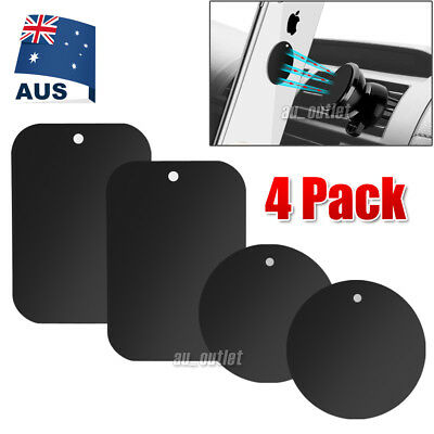 AU4.95 • Buy 4X Metal Plate Magnetic Car Phone Holder Accessories Magnet Phone Stand Support