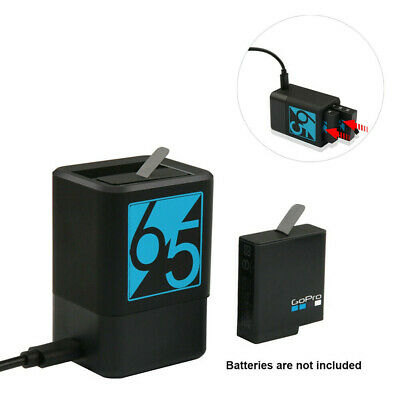 AU19.99 • Buy Dual Battery Charging Charger For GoPro HERO 5 6 7 Black USB-C Port & Cable Cord