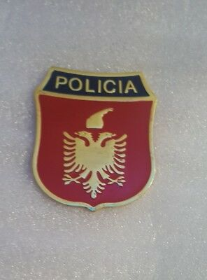 $ CDN51.63 • Buy Original Albanian  New Style Police Patch  POLICIA   Metal . Very Hard To Find!