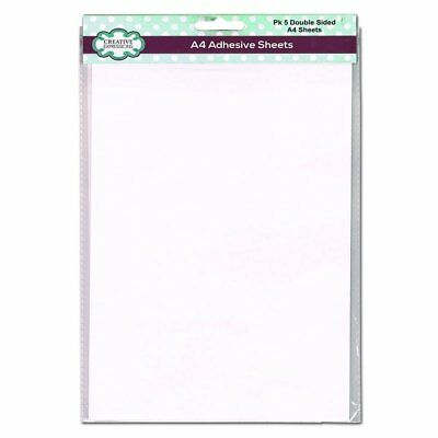 £5.35 • Buy Creative Expressions DOUBLE SIDED ADHESIVE SHEETS A4 X 5 [ADHA4] As Seen On TV