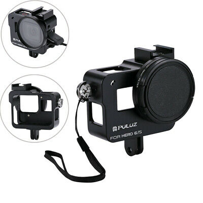 AU29.99 • Buy Aluminum Alloy Housing Shell Frame Case+UV Lens Filter Cap For Gopro Hero7/6/5