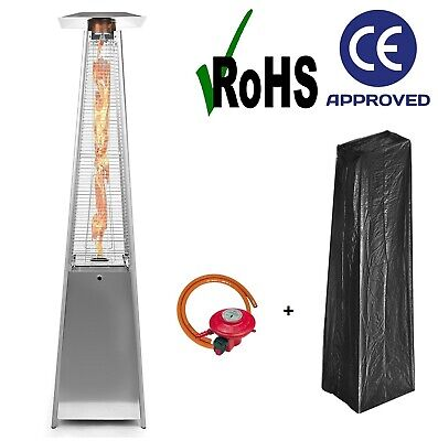 Dealourus Quartz 13kw Gas Patio Heater Garden Pyramid Outdoor With Wheels Hot • 199£
