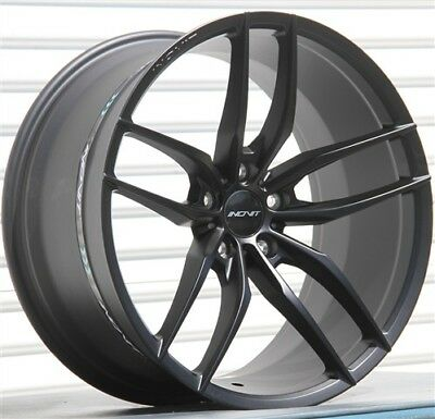 $899 • Buy Set(4) 20x8.5/10 5x114.3 MATTE BLACK WHEELS MUSTANG IS250 GS300 GS350 RSX TSX