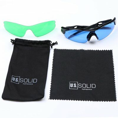 $13.99 • Buy U.S. Solid Hydroponics Grow Room Glasses Protective Lenses For HID LED Lighting
