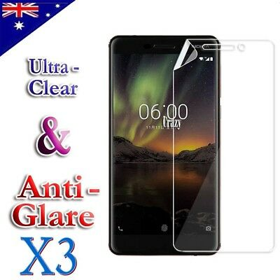 AU3.49 • Buy 3x Clear & Anti-Glare Matte Screen Protector Film For Nokia 1 6.1 6 2018 7 Plus