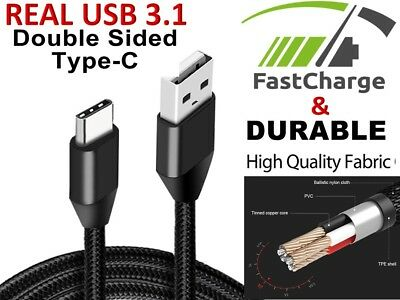 AU3.22 • Buy Type-C USB-C 2 Male Data Sync FAST Charger Charging Cable Samsung Galaxy S20 S10