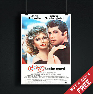£3.49 • Buy GREASE *1978 MOVIE POSTER A3 A4 Classic Vintage Musical Film Art Print TRAVOLTA