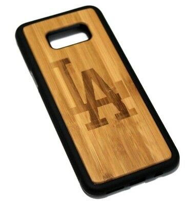 AU18.99 • Buy For Samsung Galaxy S8 PLUS - LOS ANGELES LA REAL WOOD HYBRID RUBBER CASE COVER