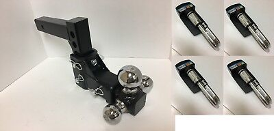 Heavy Adjustable Tow Receiver Hitch Tri Ball 1 7/8 , 2 , 25/16 Ball +4 Sets Lock • 106$