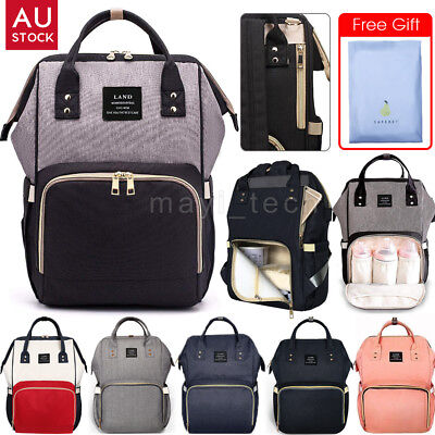 AU33.99 • Buy GENUINE LAND Large Multifunctional Baby Diaper Nappy Backpack Mummy Changing Bag