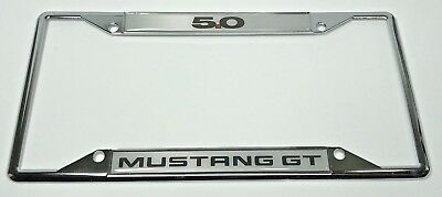 Chrome Ford Mustang GT 5.0 Emblem License Plate Frame • 27.95$