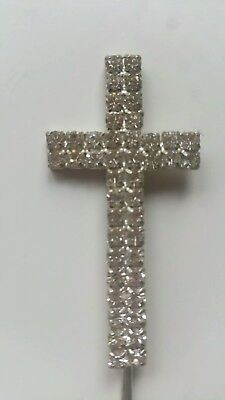 Christening/Wedding/First Communion Cake Topper With Diamante Studs Decoration • 5£