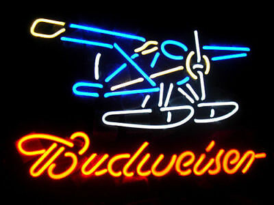 $ CDN163.29 • Buy 16  X 14  BUDWEISER PLANE Neon Sign Light Handmade Home Room Wall Poster