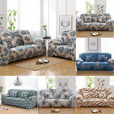 AU22.49 • Buy EASY Stretch Couch Sofa Lounge Covers 1 2 3 4 Seater Dining Chair Recliner Cover