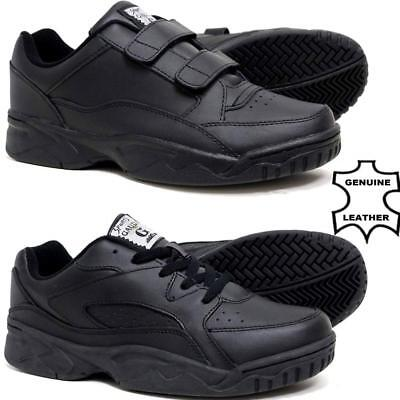 Mens New Casual Leather Wide Fit Walking Running Gym Trainers Driving Shoes Size • 18.95£