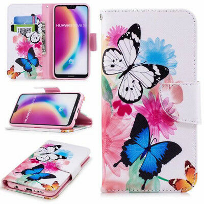 AU7.11 • Buy Colorful Butterfly Flowers Flip Stand Wallet Case Cover For Various Cell Phones