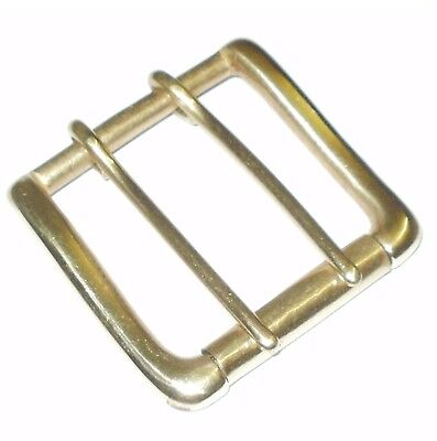 £4.95 • Buy 2  Inch 50mm Solid Brass Belt Strap West End Roller Buckle Double Prong