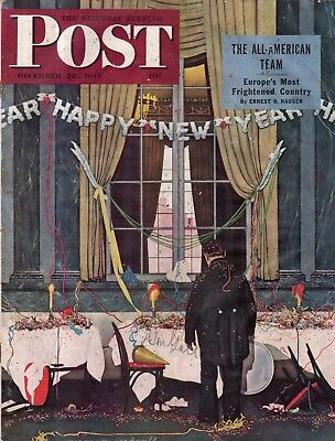 $ CDN39.99 • Buy 1945 Saturday Evening Post December 29 Norman Rockwell;Greece;Mongoloid;B Movies