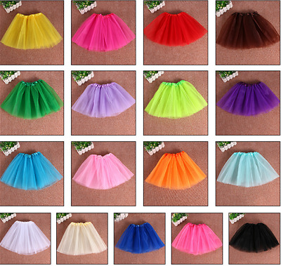 2-7 YRS Girls Kids Tutu Skirt Fancy Dress Ballet Dance Photo Prop Costume Party • 2.99£