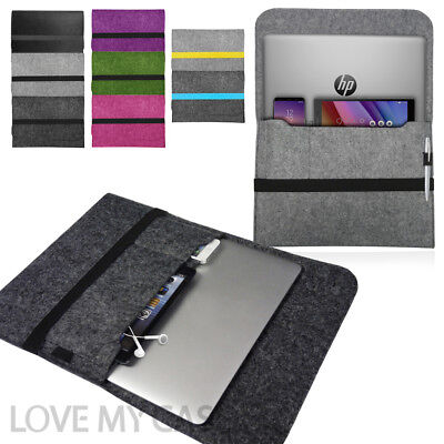 Laptop Felt Sleeve Case Cover Bag For HP Notebooks Pavilion, Spectre, Envy • 7.95£