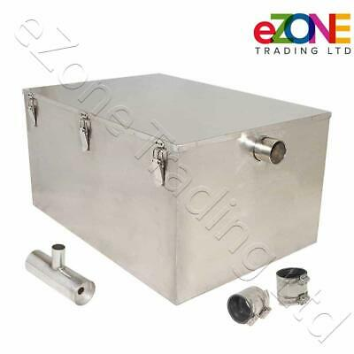 £179.99 • Buy Commercial Catering Grease Trap Stainless Steel Waste Fat Interceptor Separator