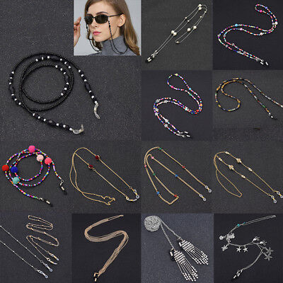 AU5.03 • Buy Metal Strap Bead Chain Glasses Spectacles Sunglasses Glasses Holder For Reading