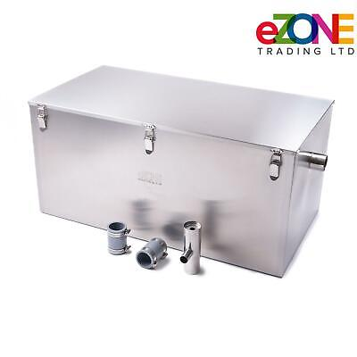 £299.99 • Buy Commercial Grease Trap 98 Litre Catering Waste Fat Oil Filter Stainless Steel