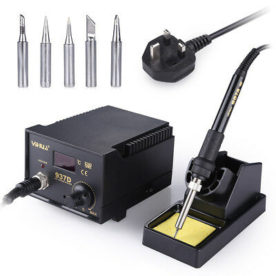 Electric Iron Soldering Station SMD Welder Welding Tool Kit 6 Tips 45W Digital • 25.99£