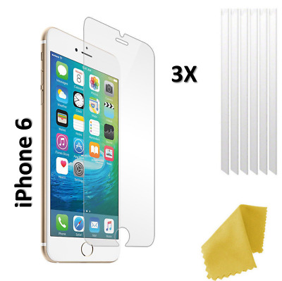 AU3.03 • Buy 3 X Clear Plastic Screen Guard LCD Protector Film Layer - Apple IPhone 6