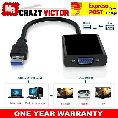 AU12.65 • Buy USB 3.0 To VGA Multi Display Adapter External Video Card For Window XP 7 8