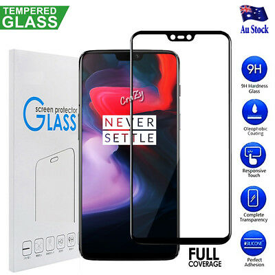 AU5.95 • Buy 3D Full Coverage Cover Tempered Glass Screen Protector Guard For OnePlus 5 6