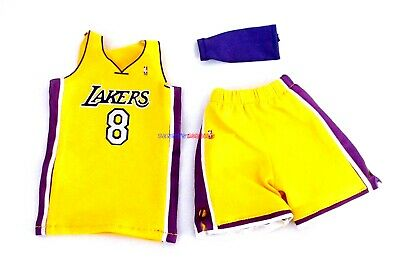 $21.99 • Buy 1/6 NBA Los Angeles Lakers 8 Kobe Bryant Yellow Home Jersey For Enterbay Figure